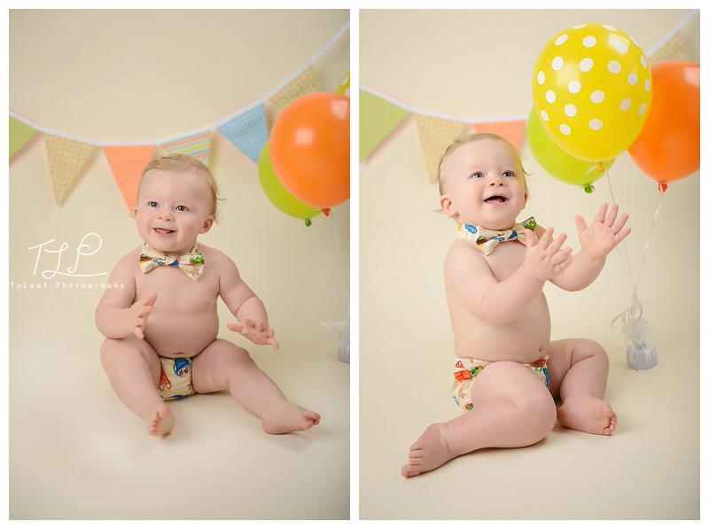Albany New York Baby Photographer Cake Smash Happy Clapper