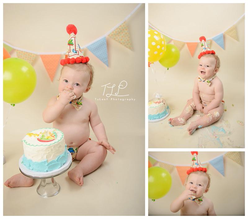 Albany NY Cake Smash Photographer happy birthday boy