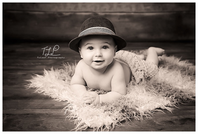 albany baby photographer fedora hat