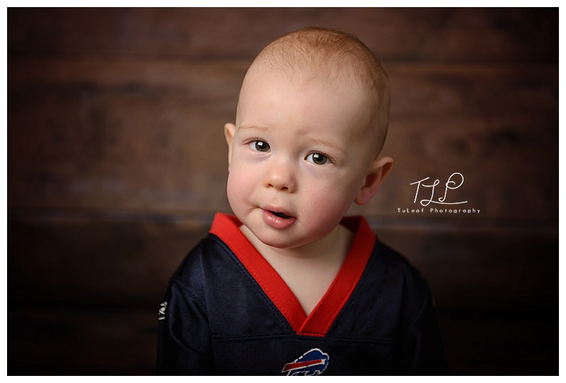 albany baby photographer handsome football fan