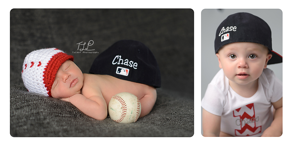 albany newborn photographer baseball theme