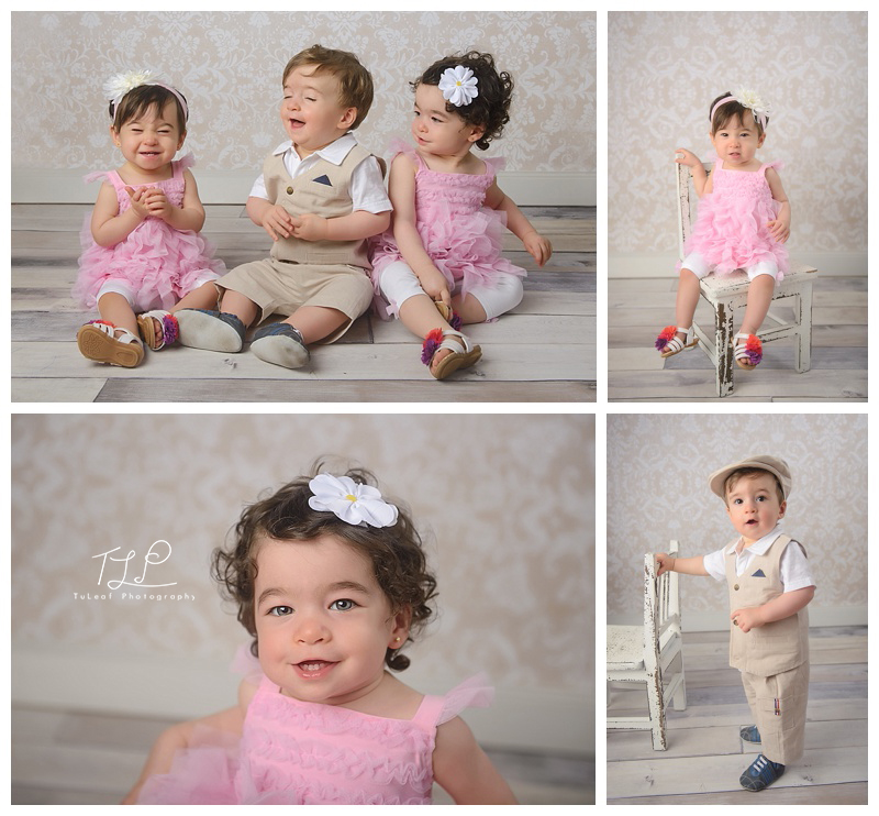 baby photographer albany triplets one year