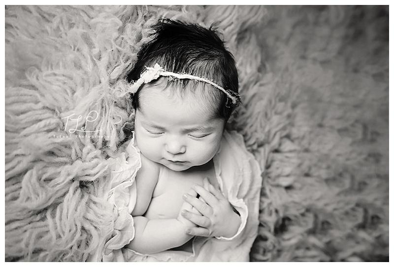 baby photo albany newborn in wrap