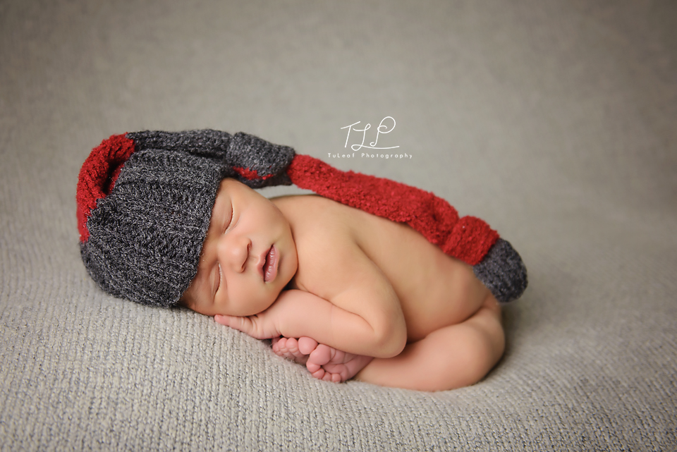 newborn photography in albany baby taco pose