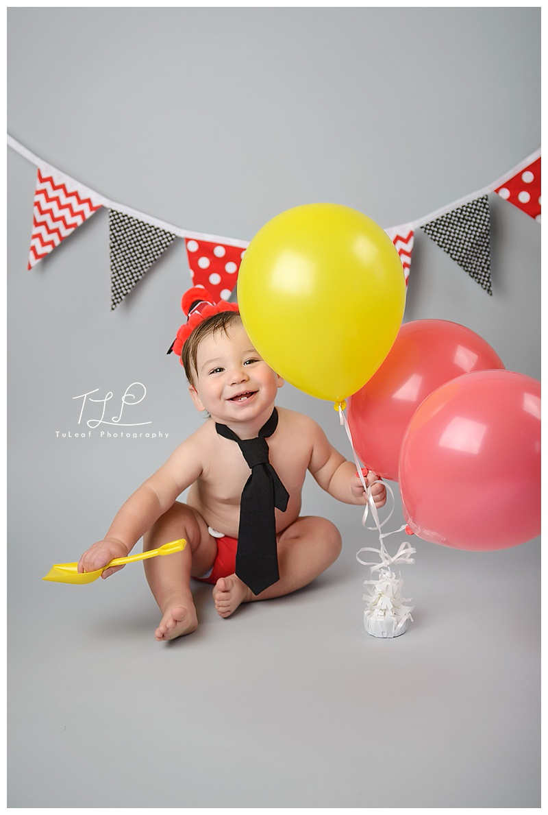 happy one year old baby photo