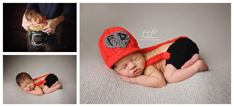 albany newborn photographer baby fireman