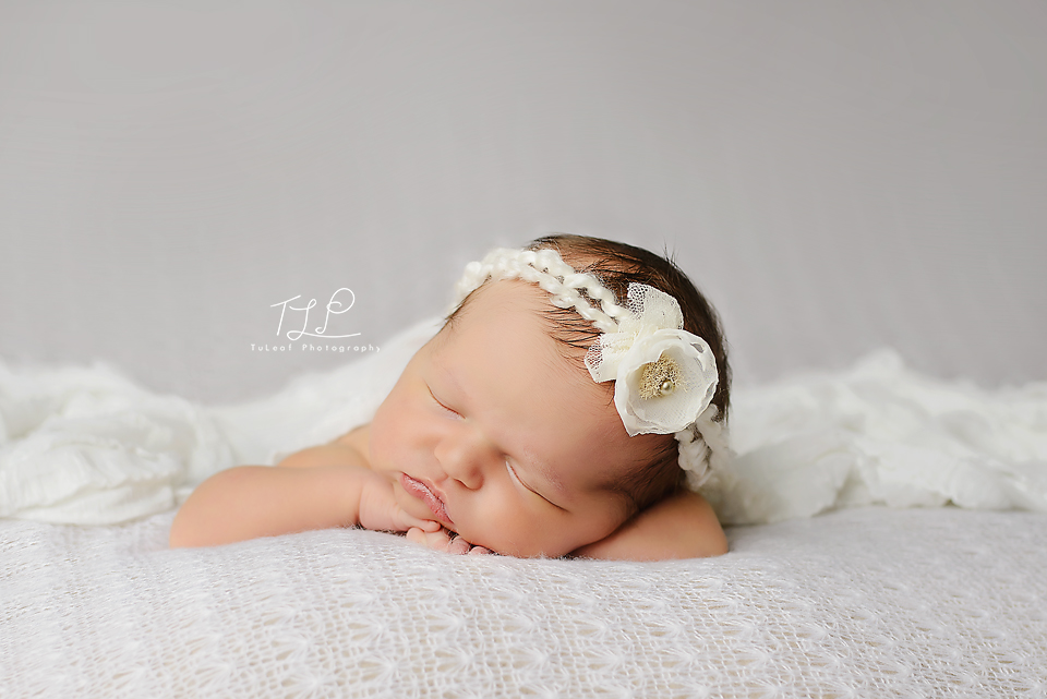 Albany newborn photography baby in white
