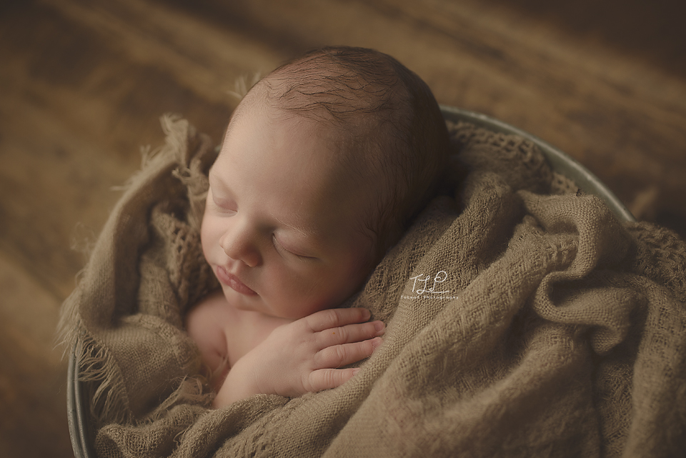 albany newborn photographer baby face bucket