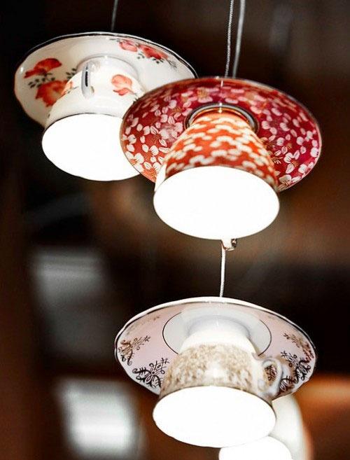 ninbra: Tea cup lighting.