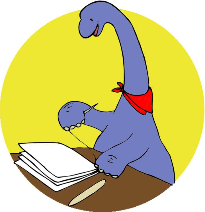 yifanluo: Color version of Bookmaking dinosaur!