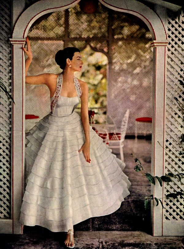 theniftyfifties: Modess advertisment, 1953.