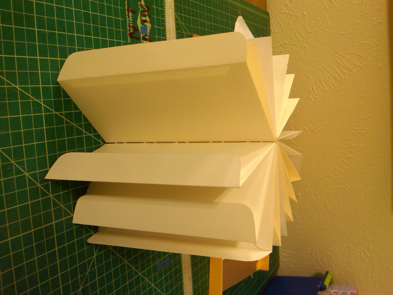 Dummy for coptic bound book made of envelops