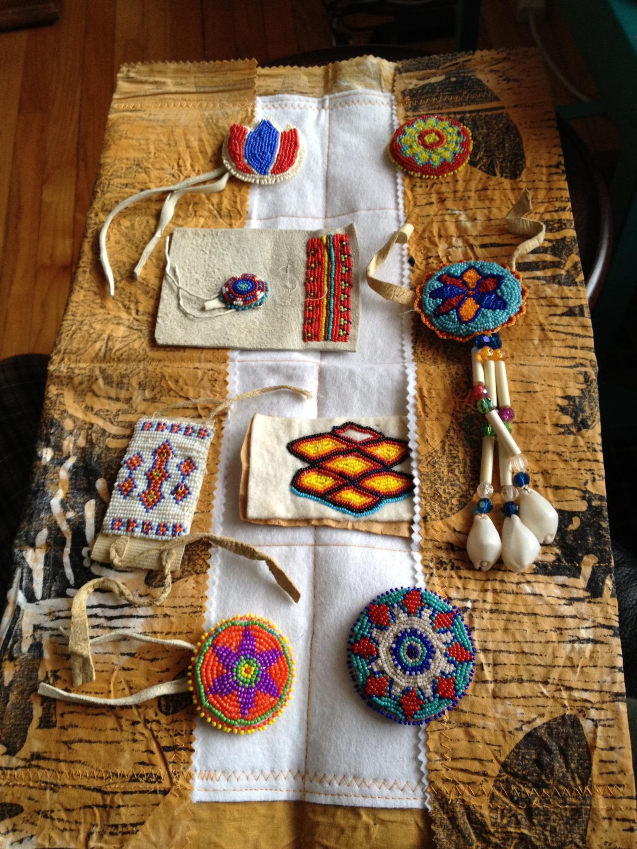 hybridpress: Kaku's (grandmothers) bead work.