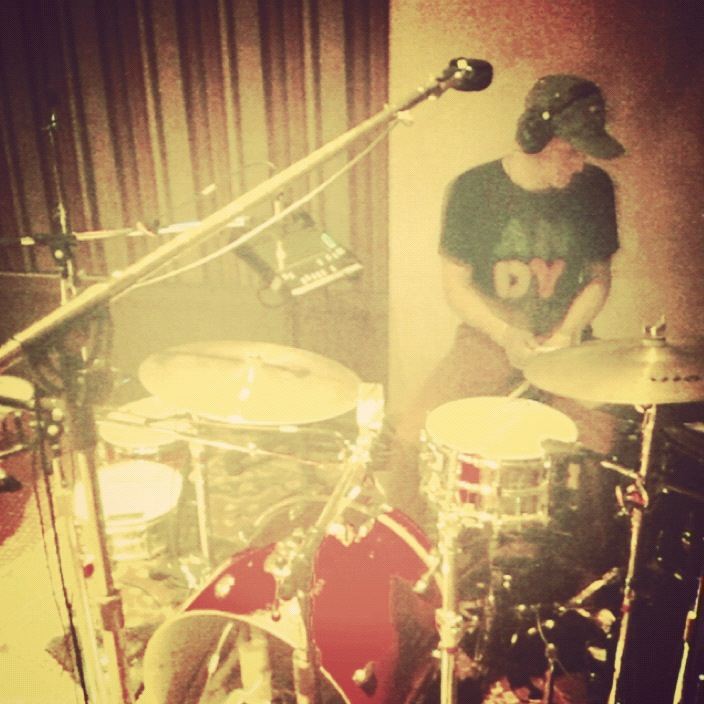 fosterthepeople: recording drums in hollywood.