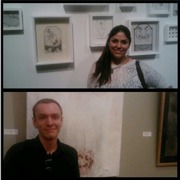 2 artists, 2 shows… Mama Cat is proud of you! @adamrowlett and Coco Rico. #art #gradschool (Taken with instagram)