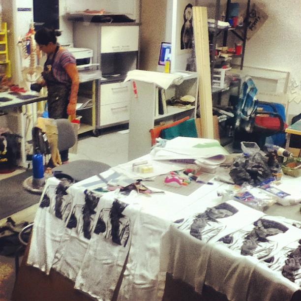 @grabadoralinda gettin ready for #sgc2012 (Taken with instagram)