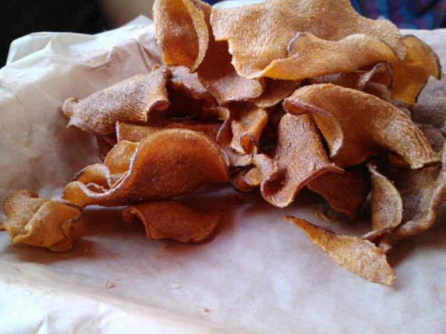 Beautiful chips at Twisted Root in Deep Ellum.