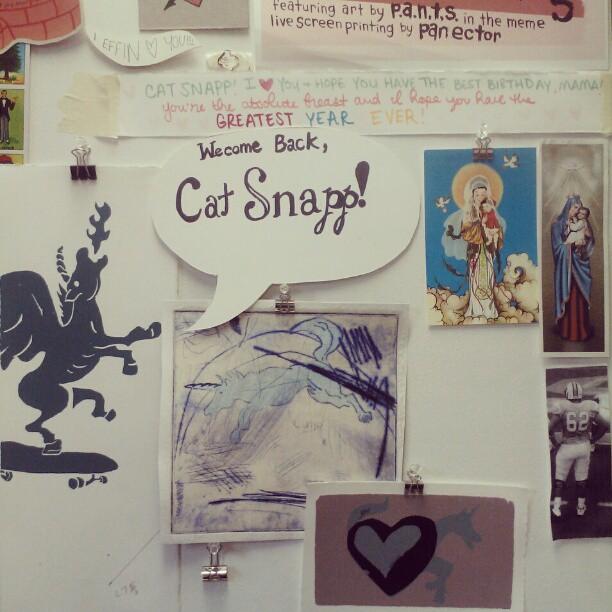 Emotional day… Taking my grad studio down. #moving #sad (Taken with instagram)