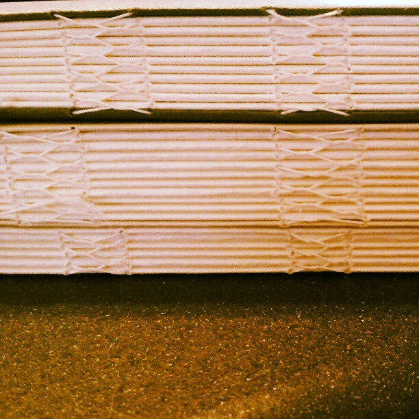 couple hours #kettlestitch #bookbinding (Taken with instagram)