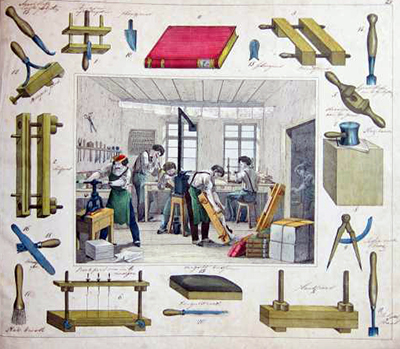 simongoode: Bookbinding workshop c.1840s