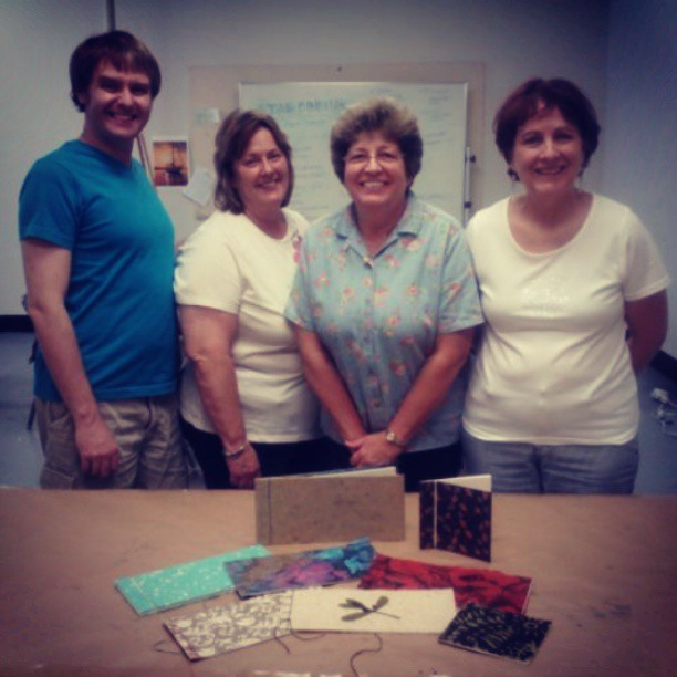 Wonderful afternoon teaching the stab binding at Reddi Arts! These students were awesome!