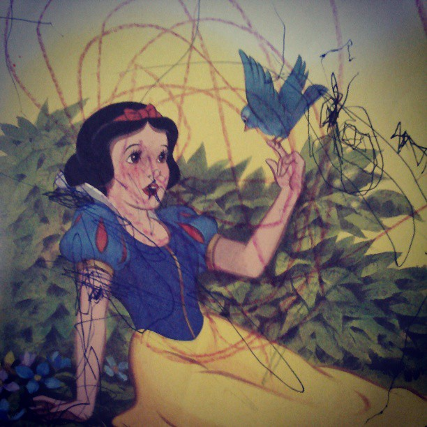 My dislike for Snow White started early. Looks like my taste and artmaking haven't changed at all in decades!