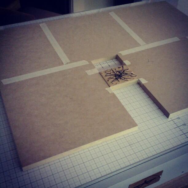 Print setup. Small block, big paper.