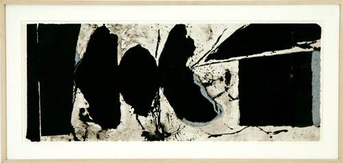 Robert Motherwell Elegy Black Black lithograph in colors Photo: David Richard Gallery