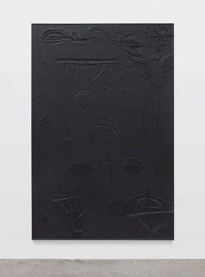 Rashid Johnson, Cosmic Slop, 2011, black soap, wax, 72.5 x 49.5 x 1.75 inches (184.2 x 125.7 x 4.4 cm)