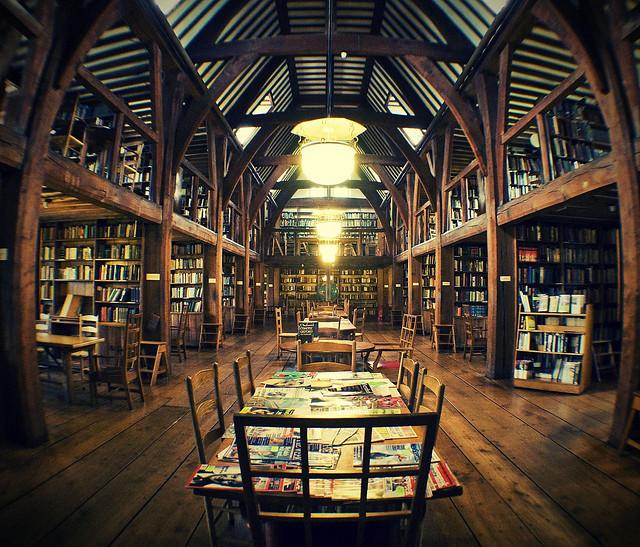workspaces: lalibrairie: Bedales School, Petersfield, UK Hogwarts