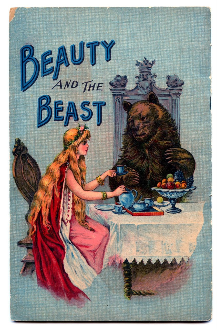 fairytalemood: Beauty and the Beast vintage book cover