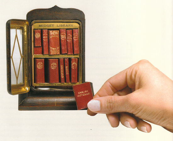 fuckyeahbookarts: Twelve Volume Miniature Library produced by David Bryce & Son, Glasgow, 1900.