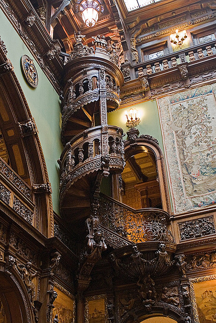 bethelie: sunsurfer: Spiral Staircase, Pele's Castle, Romania photo by bob9billion Breathtaking! Absolutely amazing!