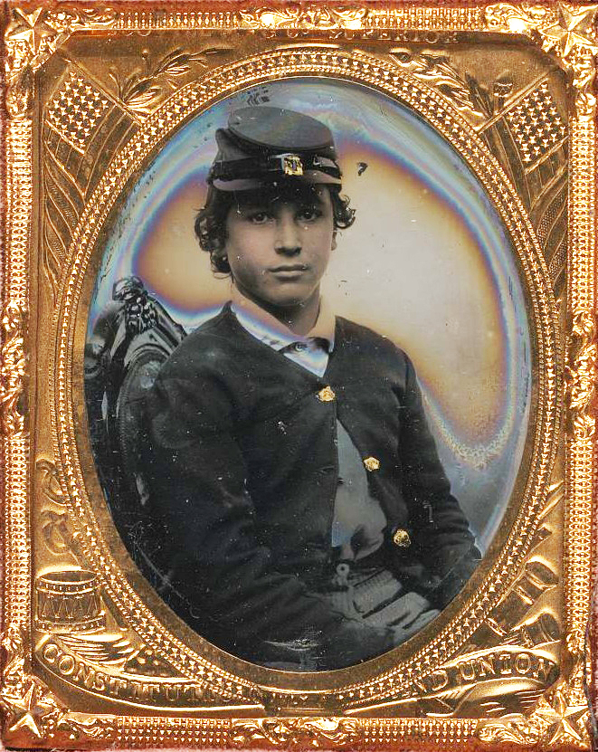 mydaguerreotypeboyfriend: Young soldier from the Civil War, Union Army. Submitted byjustsomebroad