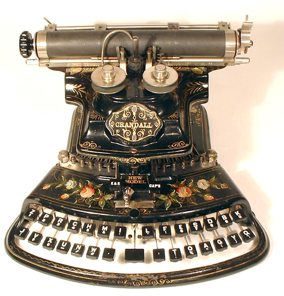 fuckyeahbookarts: turningpagesover: Crandall New Model typewriter, 1886.
