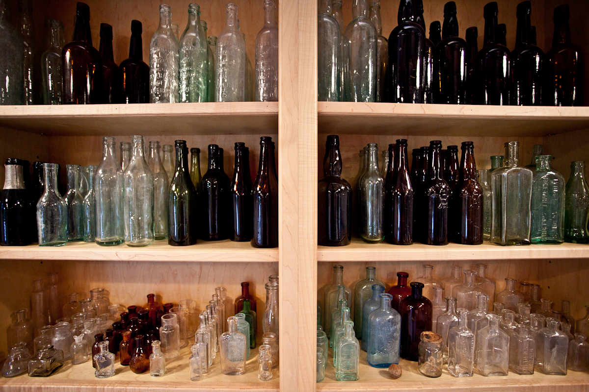 thingsorganizedneatly: SUBMISSION: Found bottles and glasses from a farm in Charlottesville, VA. 6.29.11.