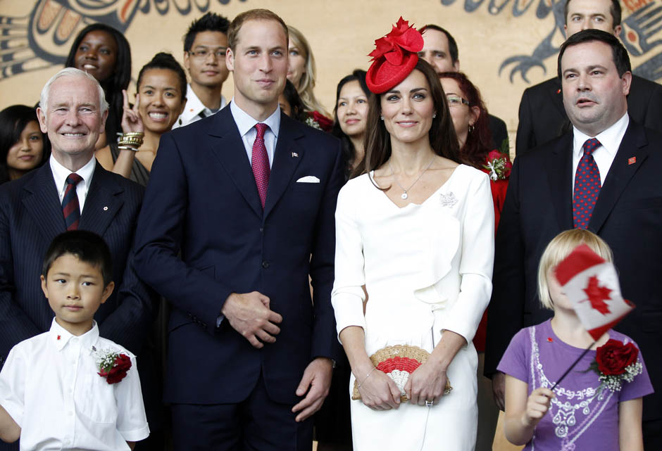 ninbra: The Duke and the Duchess of Cambridge on the second day of their nine-day tour of Canada on July 1, 2011.