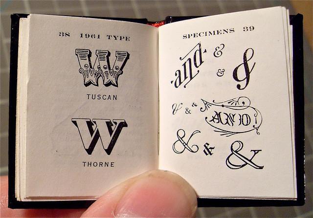 mansastypas: Miniature Book / Big Type Book / Will Cheney / 7 by typesticker on Flickr.