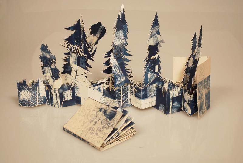 teachingliteracy: fullbloom: handmadebooks: a Forest of Cyan