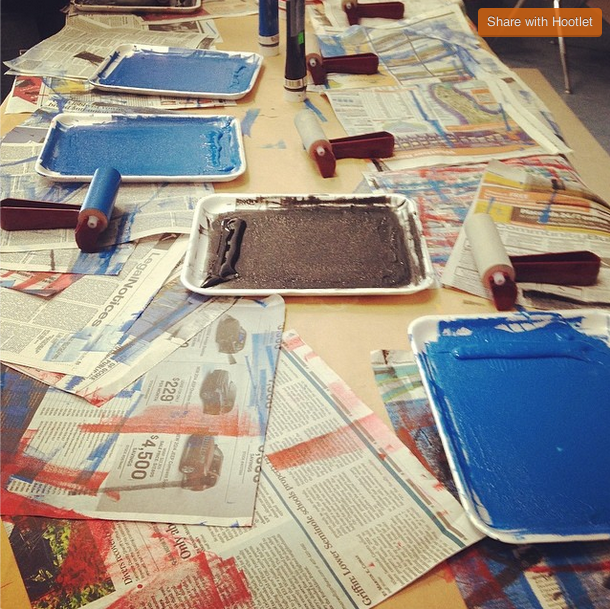 Just a glimpse of one of the art outreach work stations! Photo credit: Chris Ware