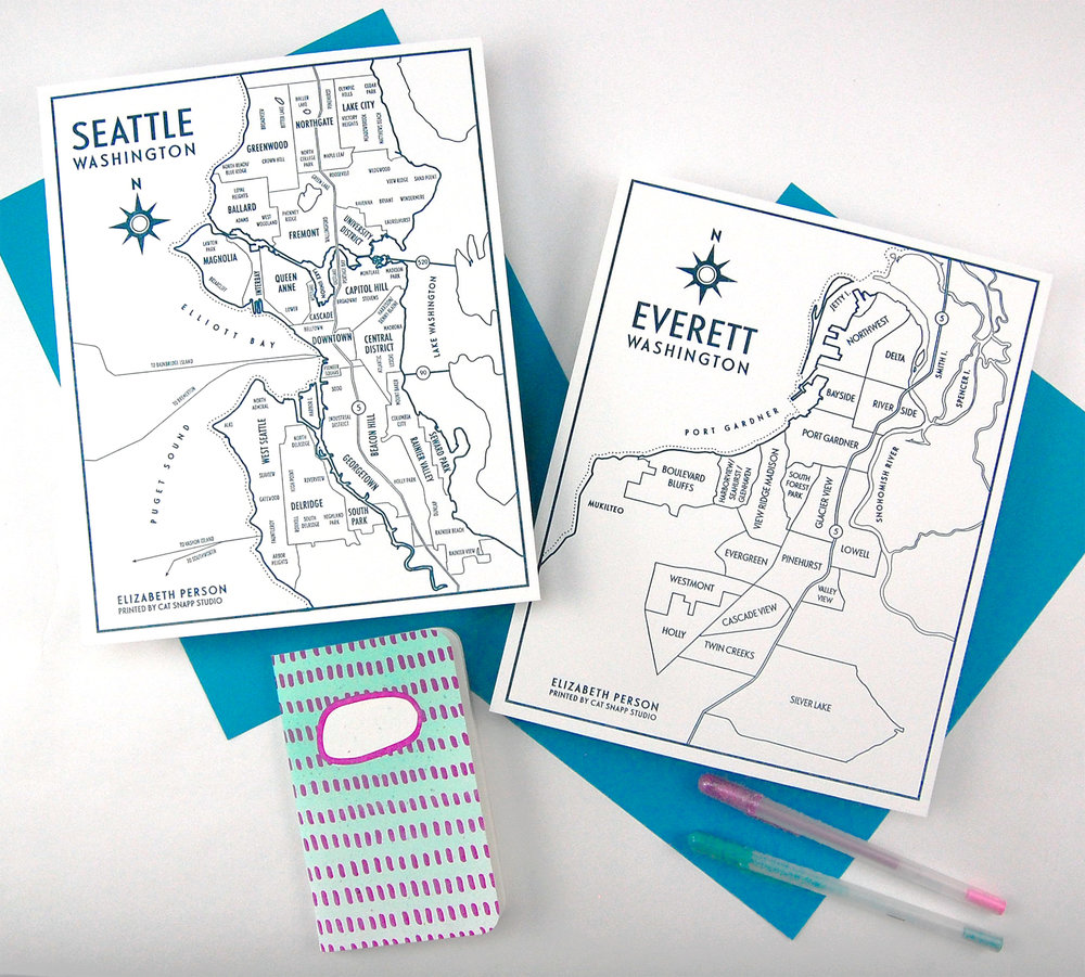 Cat Snapp Studio Elizabeth Person Seattle Everett Letterpress