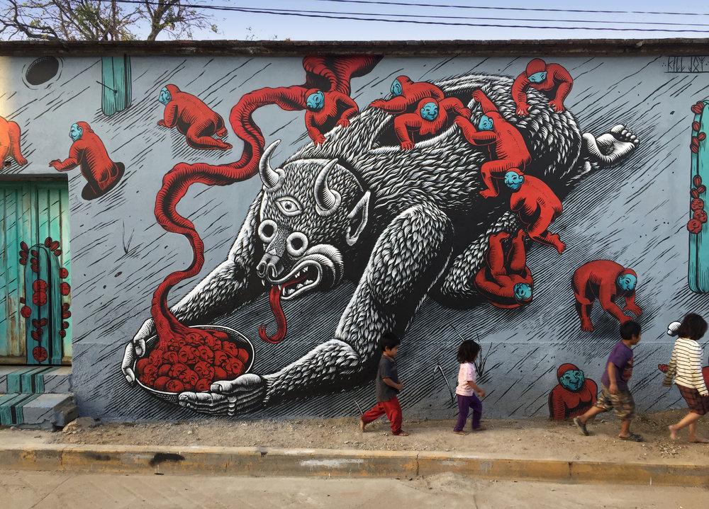 K.Choy,  Cycles  (collaboration with Mazatl): Zaachila, Oaxaca, Photo Credit: Mazatl