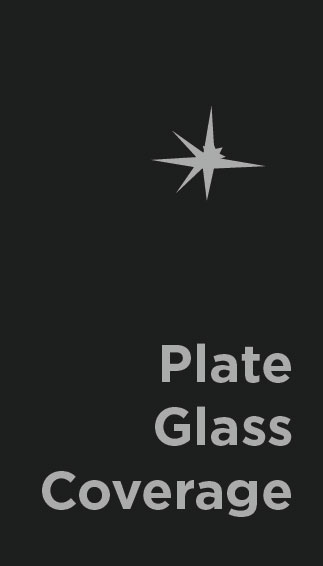 Plate Glass Coverage -     The extensive use of plate glass in modern architecture has produced a special comprehensive insurance that covers not only plate glass but glass signs, motion picture screens, halftone screens, and lenses, glass bricks, glass doors, and so forth. It may be written to cover loss from any source except fire or nuclear radiation.