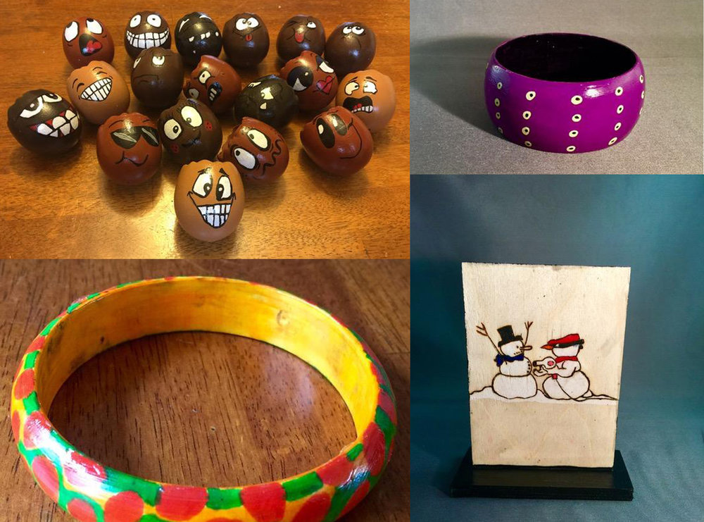 SHOP   Hand painted jewelry and crafts