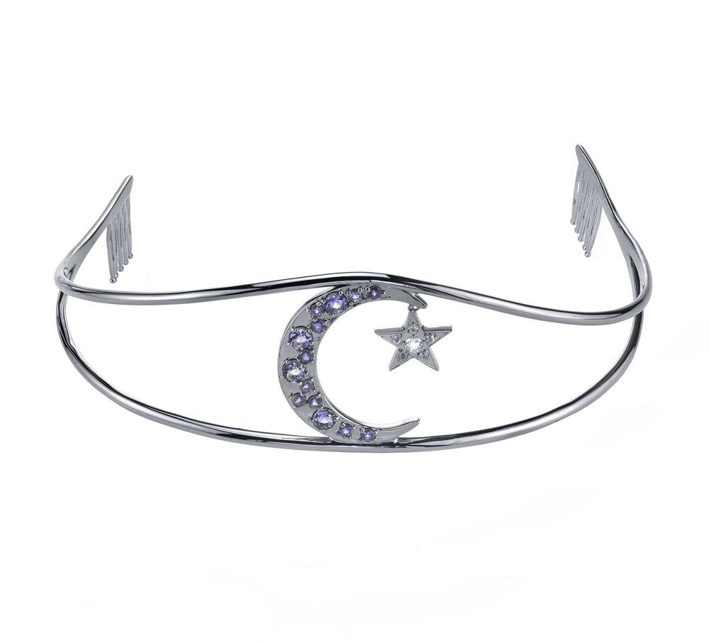 RHODIUM MOON AND STAR