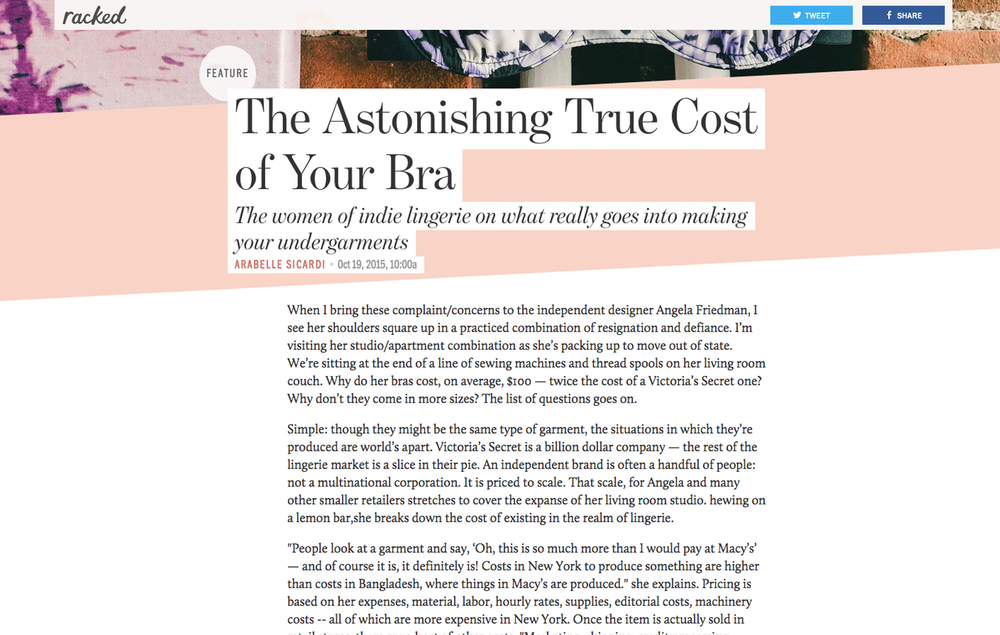 Racked: The Astonishing True Cost of your Bra