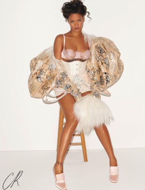 Rihanna wears an Angela Friedman corset as Marie Antoinette in CR Fashion Book 9, photo by Terry Richardson
