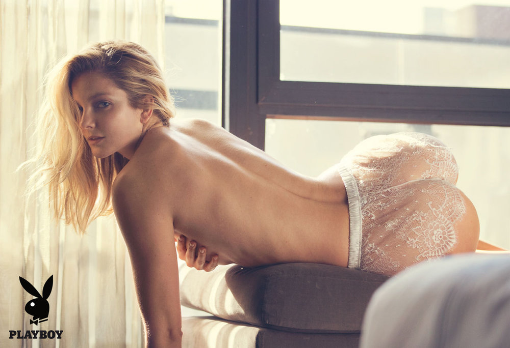 Eniko Mihalik wears Angela Friedman in Playboy Magazine, photo by David Bellemere