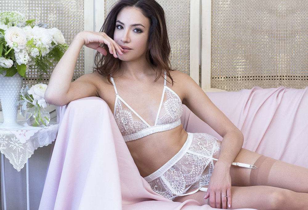Angela Friedman trousseau bridal lingerie for wedding day honeymoon underwear slips and robes silk lace undies intimate apparel
