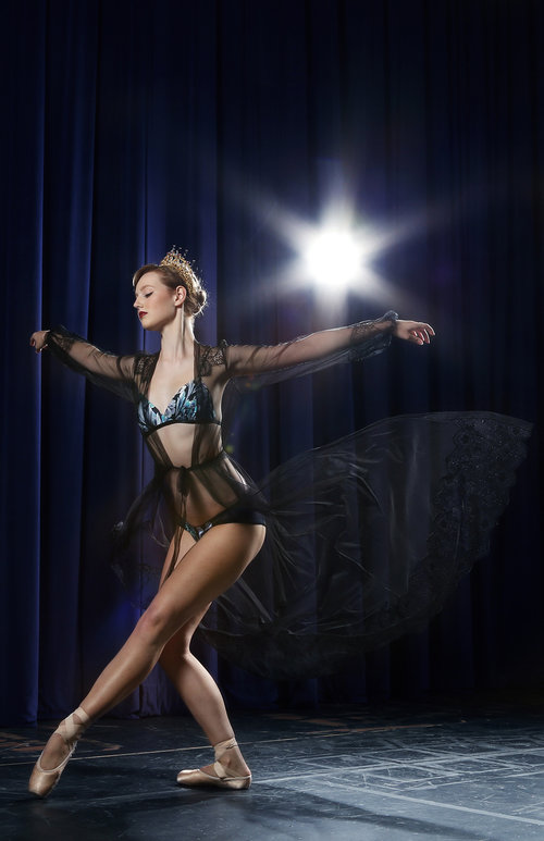 Angela Friedman tulle sheer black robes with silk and french lace lingerie and designer vintage inspired underwear